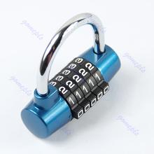 New 5 Digit Combination Travel Bag Luggage Suitcase Security Lock Padlock Blue/Free Shipping(China (Mainland))