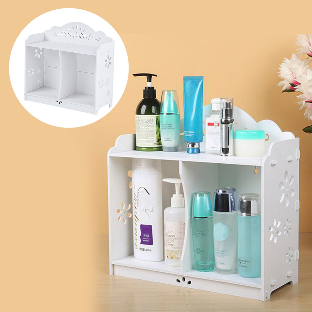 2016 White WPC board Storage Cabinet Shelf Wall Hanging Bathroom BedroomCabinet Storage Rack Shelving waterproof mildew proof(China (Mainland))