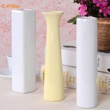 20x4.5cm Fashion Mini Ceramic Vase Flower Tabletop Vase Decoration Pot For Home Wedding Party Free shipping(China (Mainland))