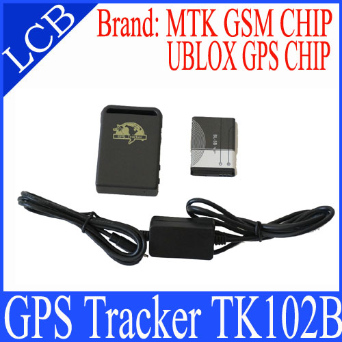 Realtime GSM GPRS GPS Tracker TK102 tracking works with free monitor software, the best offer for promotiom(China (Mainland))