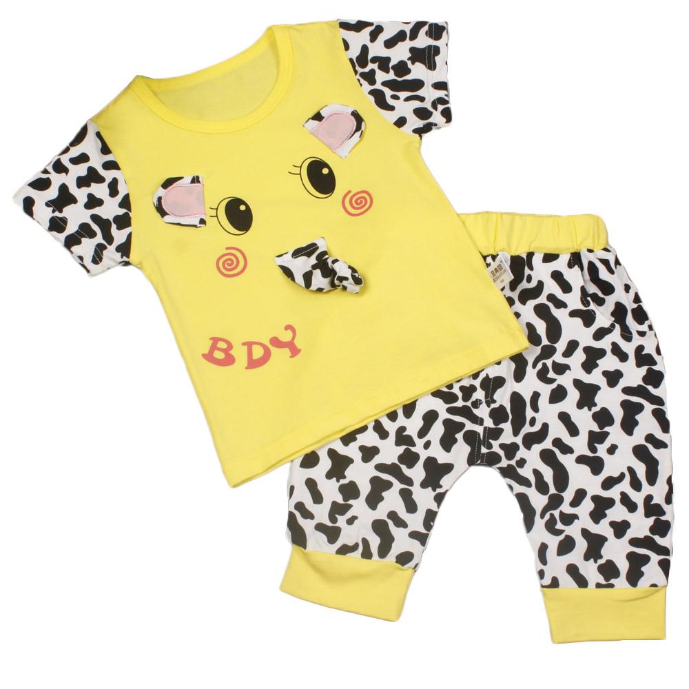 2017 summer baby kids children unisex boys girl short T shirt pants set sports soft clothing set fashion school clothing letter(China (Mainland))