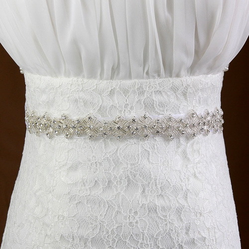 Wedding Dress Accessories Belt : Sash belt luxury rhinestone wedding dress accessories