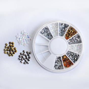 YZWLE 1 wheel  2mm & 3.5mm Zircon Rhinestones Micro Rhinestones Mini Nail Art Rhinestones Nail Decorations # YZW-GSSZ
