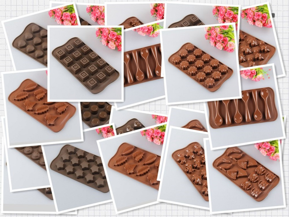 Free shipping 1PC Xmas Chocolate Cake Cookie Muffin Jelly Baking Silicone Bakeware Mould(China (Mainland))