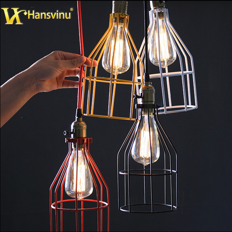 Vintage Iron Pendant Light Industrial Loft Retro Creative Decorative lights Restaurant Bar Bedroom American Country Lamp - LED Expert store