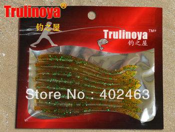 Free shipping Trulinoya fishing lure bait soft simulation Earthworm 9.5cm 2.5g Shrimp fishy smell  8pcs/pack * 5pack =40pcs