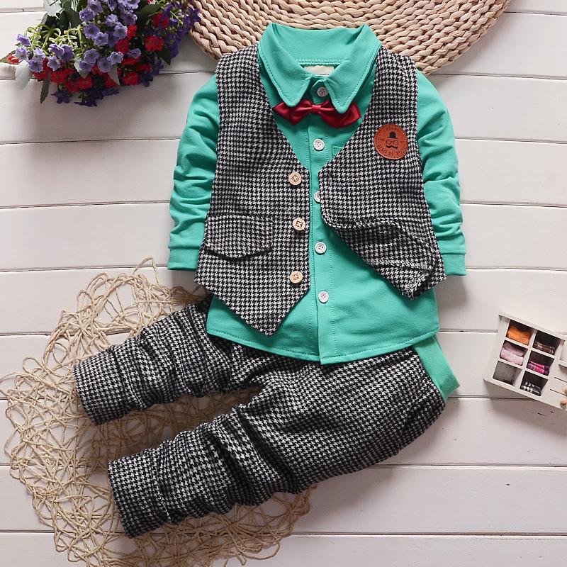 Spring/autumn summer Children baby boys girls family Clothing Set tracksuit 3 piece suit sets baby t-shirt+pants +Suit vest sets(China (Mainland))