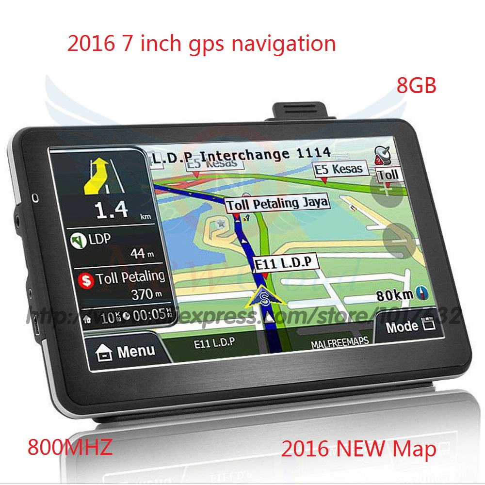 7 inch car GPS navigation FM mp3/mp4 ddr128M 800*480 America European Russia belarus Kazakhstan Spain France NaveteI 9.1 8 gb(China (Mainland))