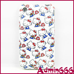 For iphone 3 3G 3GS New Fashion Lovely Hello Kitty Cat Protective Cover Plastic Back White Phone Case For Apple iPhone 3 3G 3GS(China (Mainland))