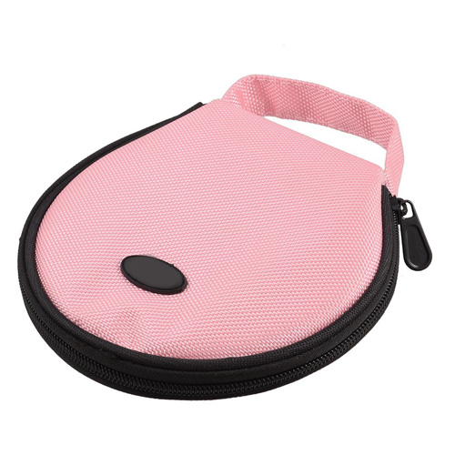 USA Delivery Pink Nylon 20 Pcs Capacity CD DVD Holder Round Wallet Case(China (Mainland))