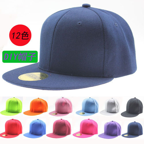 NEW RETRO Plain Fitted Cap New Baseball Hat Solid Flat Bill Visor Blank Color(China (Mainland))