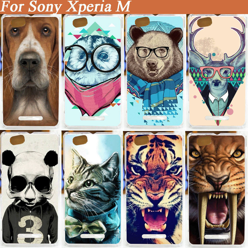 High Quality Hot Patterns Cover Case For Sony Xperia M C1905 C1904 C2004 C2005 Hard Back Cases(China (Mainland))