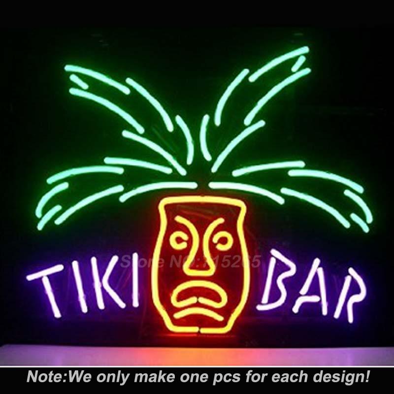 Tiki Bar Totem Pole Neon Light Sign Real Glass Tube Handcraft Custom LOGO Neon Bulbs Recreation Room Wall Sign 17x14<br><br>Aliexpress