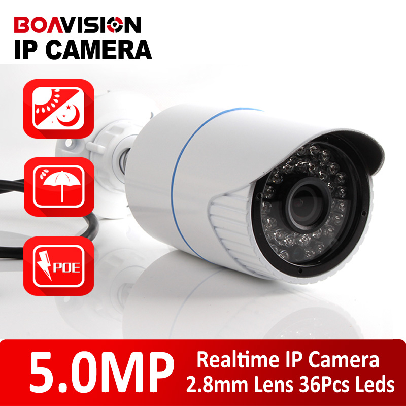 XMEYE HD 5MP IP Camera Outdoor POE High Resolution H.265/H.264 Bullet Security CCTV Camera HI3516A+SONY IMX178(2592*1944),IR 20M(China (Mainland))