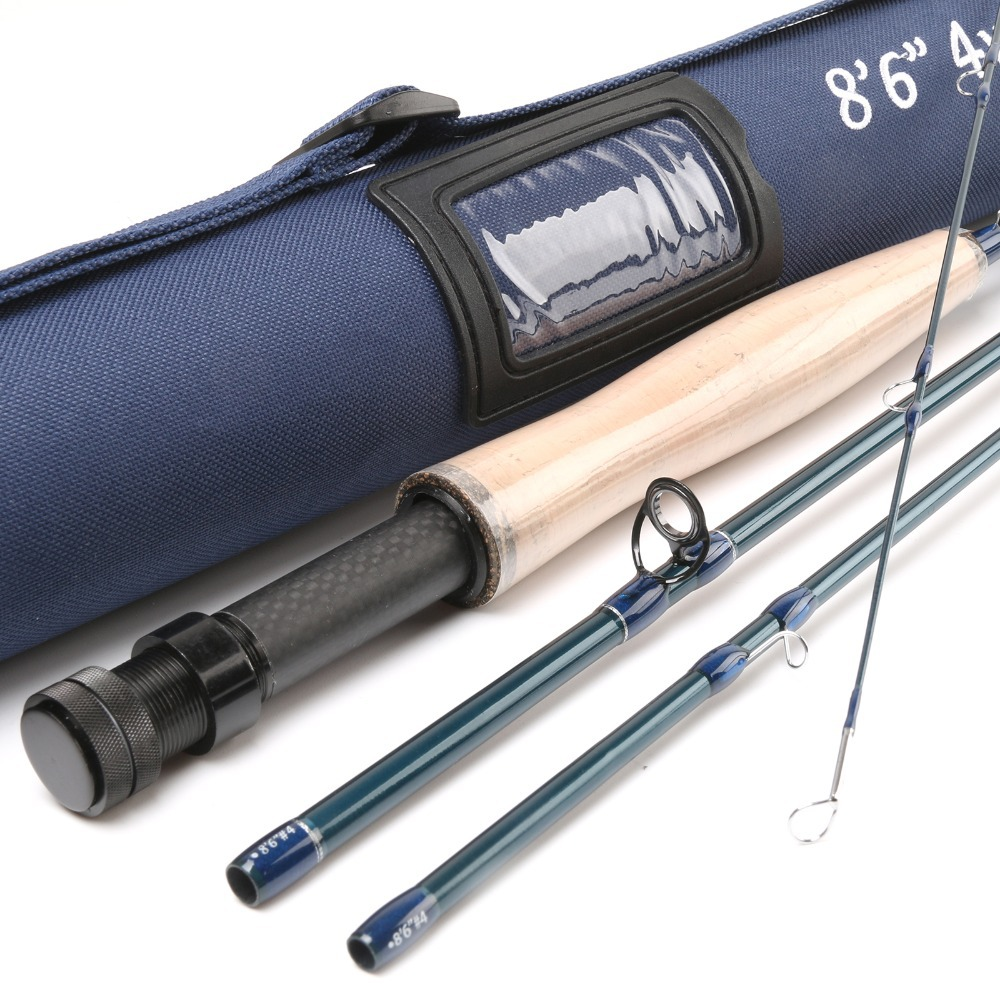 Maxcatch 24k sk carbon 8 6ft 4wt 4pcs fast action with for Shipping tubes for fishing rods