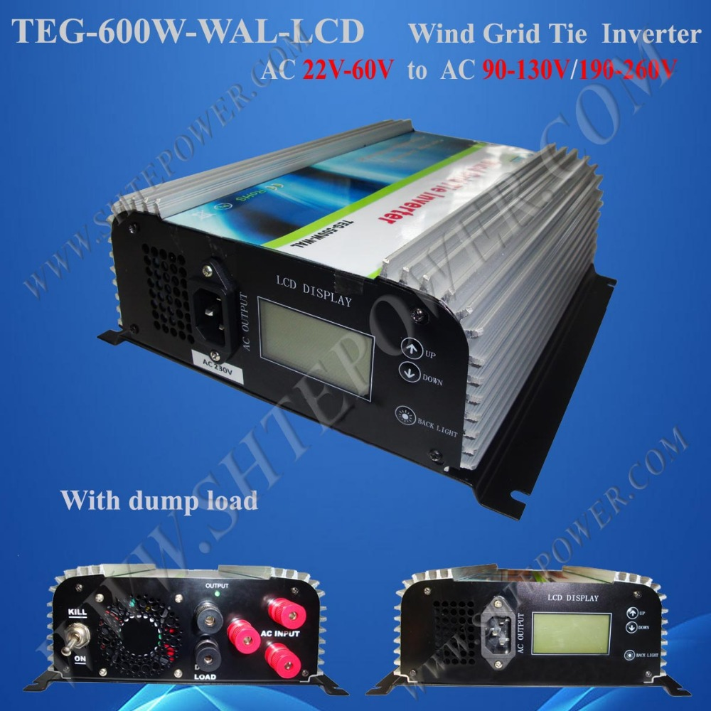 600W AC-AC wind inverters, grid connected wind turbine inversor 48-220V, power inverter 600W(China (Mainland))