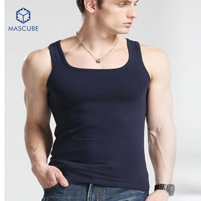[MASCUBE]New Brand Men Undershirt Summer Style Tank Tops Fashion Sleeveless Men's Vest Bodybuliding Gym Singlets(China (Mainland))