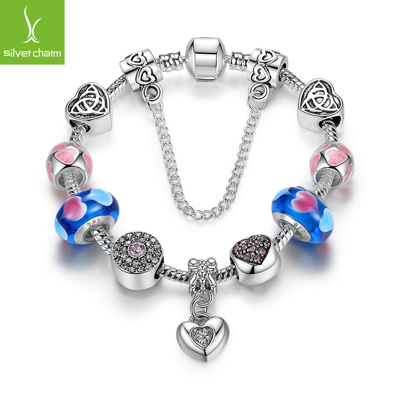 High Quality Romantic Forever Love Heart 925 Silver Charms Bead Fit Original Pandora Bracelet For Women Fashion DIY Jewelry Gift(China (Mainland))