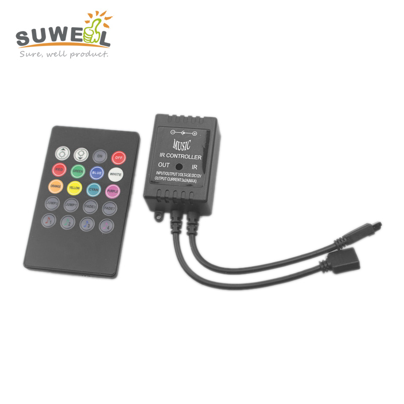 20 key led music controller for 3528 5050 rgb led strip ir wireless remote control controller dc 12v 6a 72w(China (Mainland))
