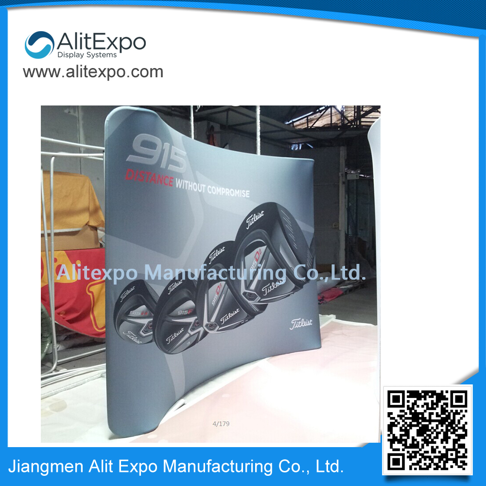 Ideas exhibition stand 8ft curved(China (Mainland))
