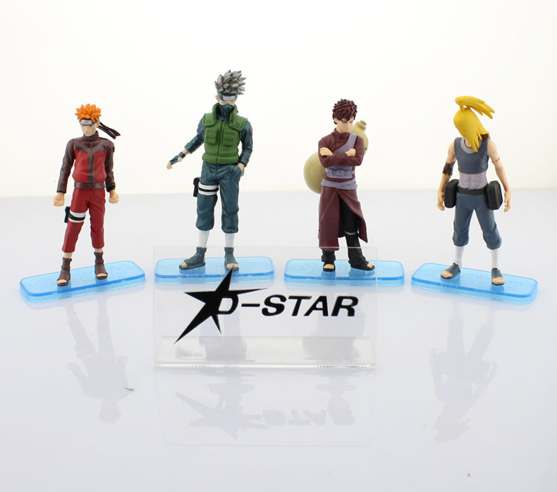 DHL Shipping 12 sets Naruto + Kakashi + Gaara + Deidara Solid 31th PVC Action Figures Collection Model Toy (4pcs per set)<br><br>Aliexpress