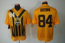 100% Stitiched,pittsburgh steelers Antonio Brown Heath Miller Le'Veon Bell Ben Roethlisberger Throwback for men(China (Mainland))