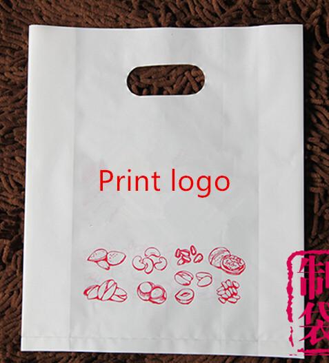 W30*40*8cm Gusseted LOGO packaging//promotional gift bag/custom printed HDPE bag/custom design bag/gusseted plastic bag(China (Mainland))