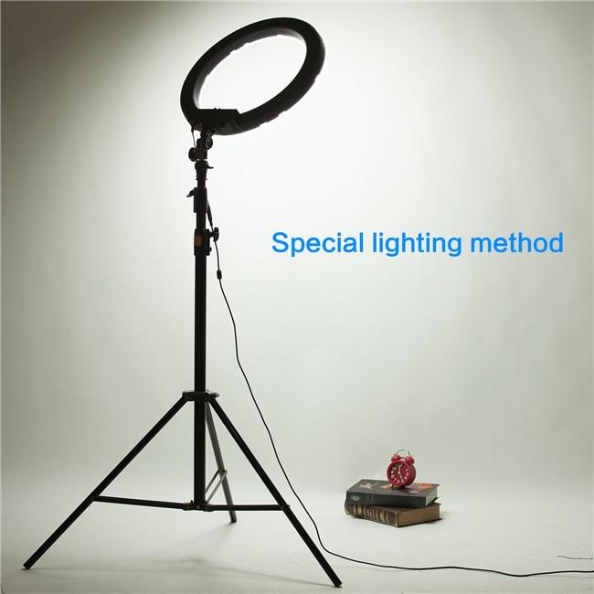 """ถูก Mekingกล้องถ่ายภาพวิดีโอ18 """"ด้านนอก55วัตต์240ชิ้นLEDแหวนแสง5500พันDimmableการถ่ายภาพแหวนวิดีโอสำหรับกล้องเติมแสง"""