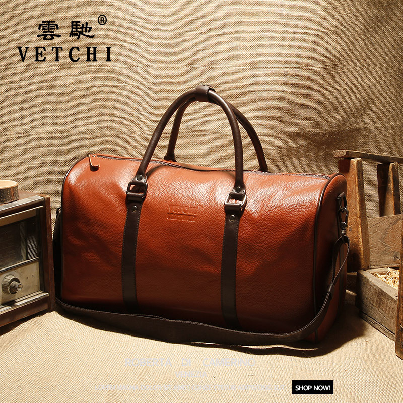 100% Guarantee First Layer Cowskin men's travel bags Vintage Brand Genuine Leather handbags Big men Business Luggage bag - China Hot Bag store