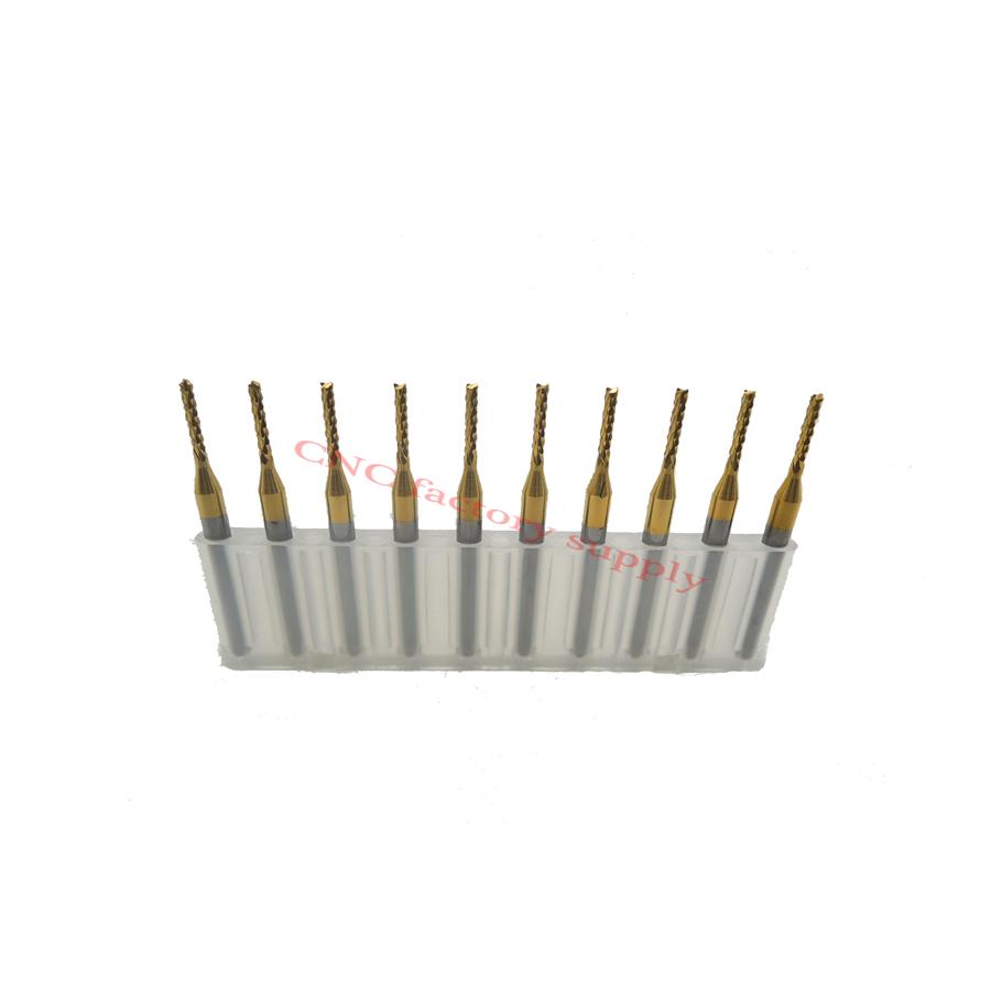 Free shipping High quality 10pcs / lot Titanium Nitride Coated Carbide PCB CNC milling cutter 1.2mm(China (Mainland))