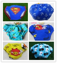 Swim Diaper Real 2015 Baby Swimming Trunks Spandex Material Cartoon Design For Boy And Girl 0-2 Years Free Shipping Or Dhl Tnt(China (Mainland))