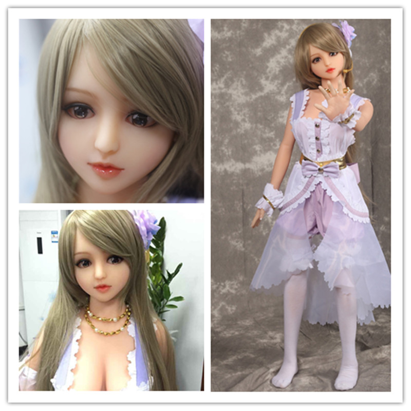 136cm sex doll drop shipping life size full solid silicone sex doll small with metal skeleton Japanese silicone sex doll(China (Mainland))