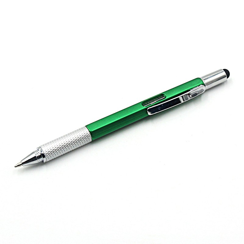 Novelty Stationery New Arrival Tool Ballpoint Pen Screwdriver Ruler Spirit Level With A Top And Scale Multifunction Plastic Pen