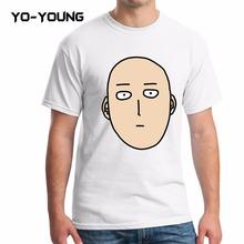 Yo молодых мужчин свободного покроя футболки сайтама один удар человек отпечатано 100% 180 г хлопок мастер тис марка одежды индивидуальные