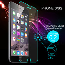 Ultra Thin 0.2mm Premium Explosion-Proof Clear Tempered Glass Screen Protector Film for iphone 6 4.7″ With Retail Package