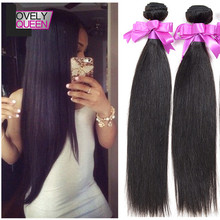 Grade 6A Unprocessed Indian Virgin Hair Straight, 2 Bundles Virgin Indian Hair Bundles Deals Top Quality Indian Straight Weave