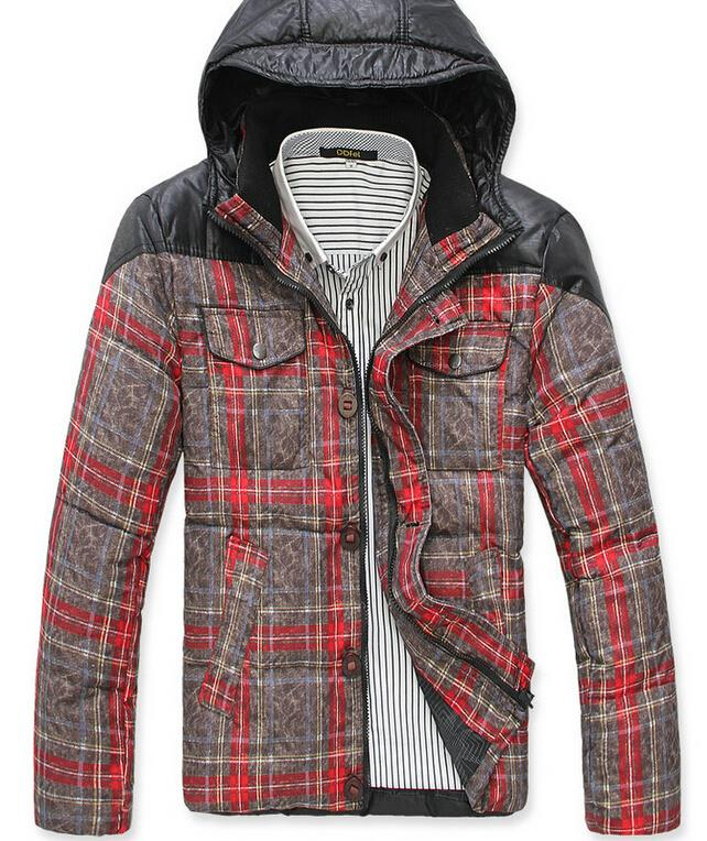 2015 new free shipping top quality men's down jacket , brand goose down jackets,fashion winter coat,parka men M-MY-014-90(China (Mainland))