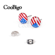 1000pairs/pack Charming USA Flag Studs Earring Fashion Jewelry Girls Casual Party Wedding Gift National Day Accessories #FJ094E(China (Mainland))