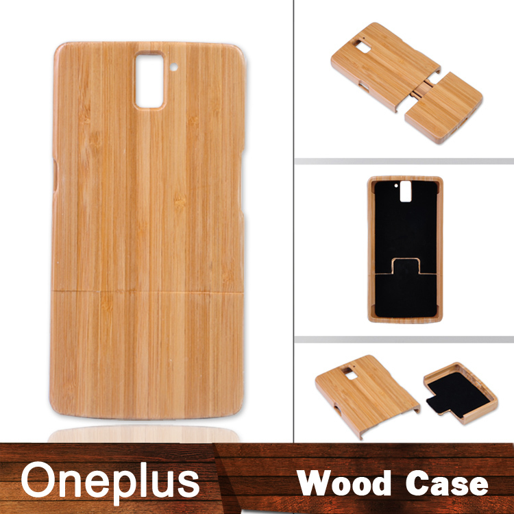 Excellent Original hard cover Bamboo case Oneplus One Plus Natural wooden Case - Kingdom store