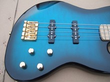 Blue dream color bass guitar,gold hardware,OEM handcraft music instrument bass electric guitar(China (Mainland))