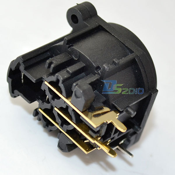 High Quality Brand New XLR Female Jack Panel Mount Connector 3 Pin Copper Gold Adapter Adaptor New<br><br>Aliexpress