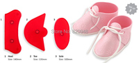 Cake Cutter 1 set Baby Birthday Shoes bootee Cookie Cake Fondant Decorating Plastic Cutter Mold Baking pastry Fondant Tools