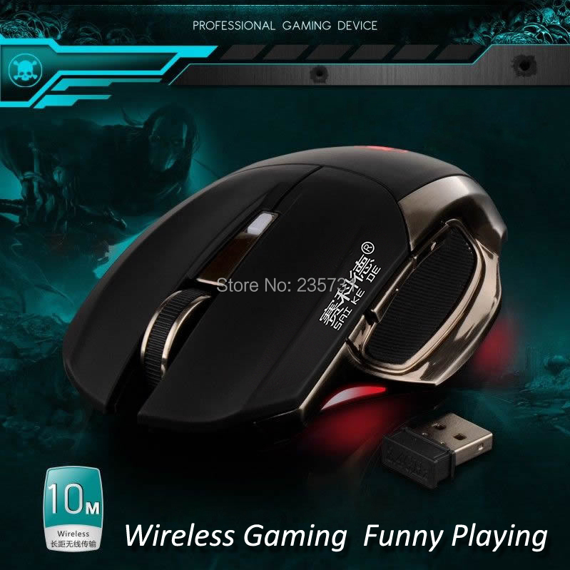 NEW Professional USB 2.4G Mouse Gamer Wireless Raton Gaming Mause 6 Buttons Backlight Metal Finish Game Maus Sem Fio Para Jogos(China (Mainland))