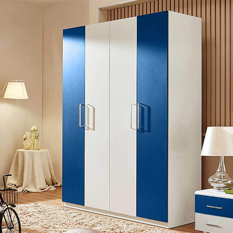 Home bedroom furniture wooden four doors wardrobe(China (Mainland))