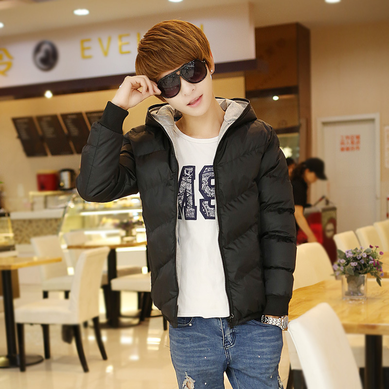 The new 2014 autumn winter thickening hooded cotton padded jacket to keep warm cotton padded clothes