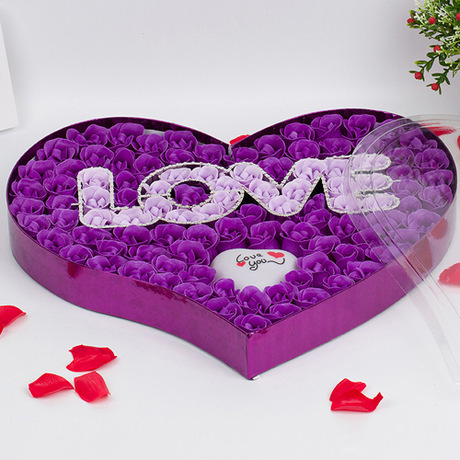Factory Direct Christmas Valentine's Day Gift 100 LOVE LIGHT soap flower birthday gift ideas(China (Mainland))