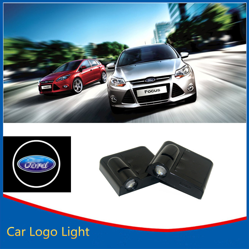 2x Ghost Shadow Light Welcome Laser Projector Lights LED Car Logo For Ford Mondeo Focus Mustang Kuga Fusion(China (Mainland))