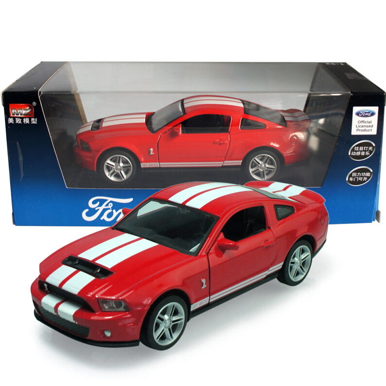 Original Box 1/32 Scale Car Model Kinsmart FORD 2007 Shelby GT 500 Cobra Alloy Model Toys Pull Back Car for baby toys(China (Mainland))