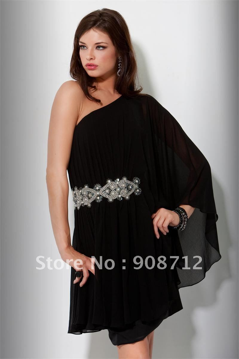 Black One Sleeve Dress