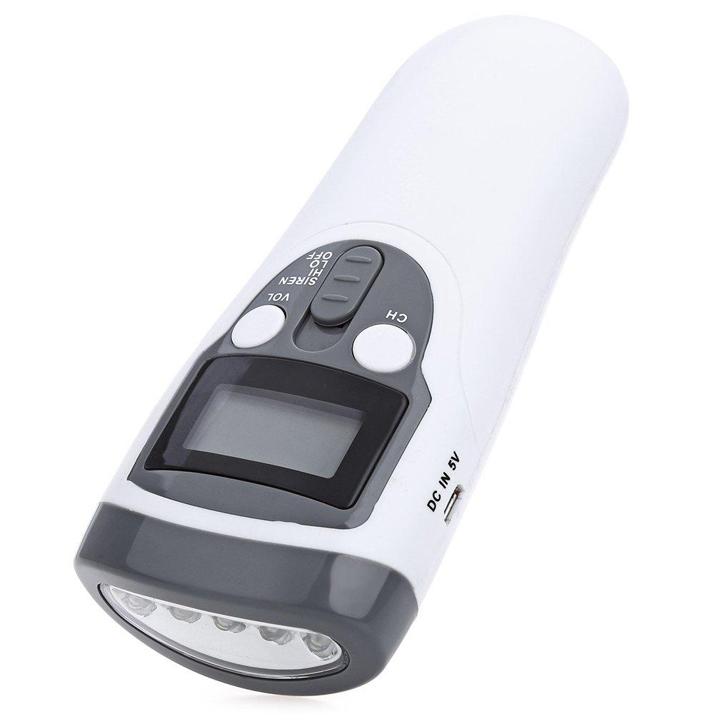 2016 Super Bright 5 LEDs LED Flashlight with AM FM Digital Scan Radio Solar LED Flash Light 1-200 Lumens Energy Saving(China (Mainland))